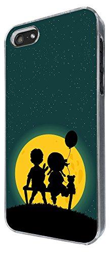 870 - Cute Boy & Girl Bench Teddy Bear Design iphone 5 5S Coque Fashion Trend Case Coque Protection Cover plastique et métal