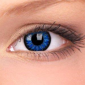 AQUA blaue Jahreslinsen ohne Stärke + GRATIS Kontaktlinsenbehälter für blaue Kontaktlinsen 2 Meeresblaue Kontaktlinsen