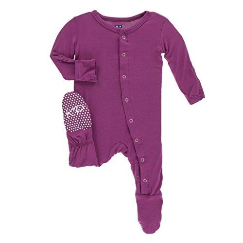 Kickee Pants Basic Pants - Kickee Pants Baby Girls' Basic Footie in Orchid, 6-9M