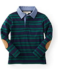 Boys Striped Long Sleeve Rugby Shirt Made with Organic Cotton