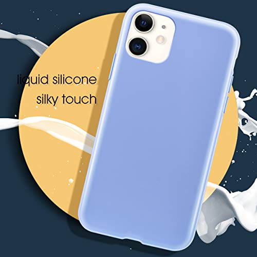 MILPROX iPhone 11 Case with Screen Protector, Liquid Silicone Gel Rubber Shockproof Slim Shell with Soft Microfiber…