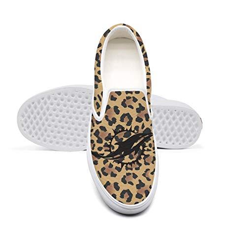 Women Casual White Skate Canvas Slip-Ons Sneakers Animal Leopard Print Skin Snakeskin Shoes