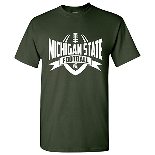 AS09 - Michigan State Spartans Football Rush Mens T-Shirt - Small - Forest Green