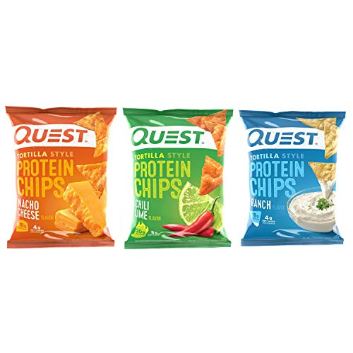 Quest Tortilla Style Chips - Variety - 30 Ct (Nacho, Ranch, Chili Lime)