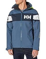 سترة رجالي من Helly Hansen مطبوع عليها علم الملح مقاوم للماء والرياح والتهوية البحرية، 603 North Sea Blue مقاس متوسط