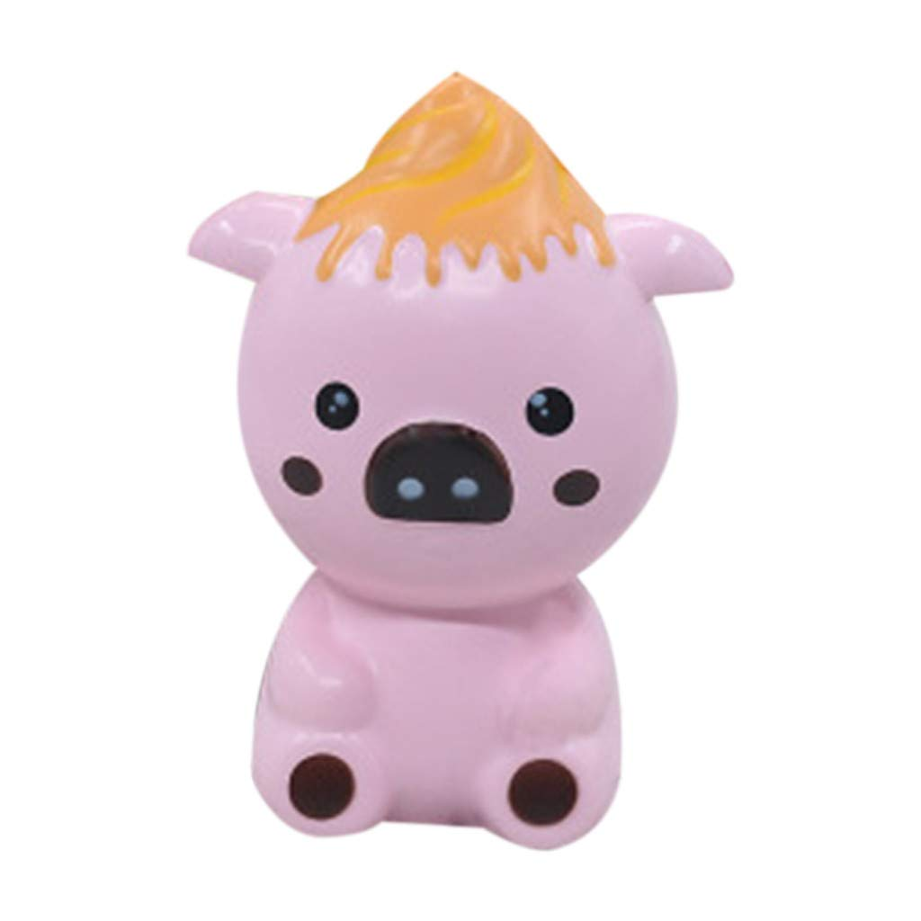 Stress Reliever Simulated Cute Bear Scented Super Slow Rising Kids Squeezable Favors for Kids Toy (Hot Pink)