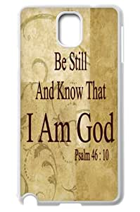 Be still and know that I am God Psalm 46 £º10 Samsung Galaxy Note3 N9000 Hard Plastic Clip on Case