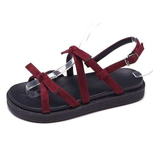 楽チンサンダル フラット レディース靴 可愛い 歩きやすい 軽量ソール 疲れにくい 美脚 蝶結び 学生 お出かけ デート 夏シューズ ブラック 赤い 女の子 カジュアル ペタンコ 柔らかい 調節可能