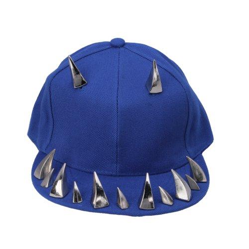 del béisbol Sombrero del remache de COMVIP Spikes Azul de Punk Hombres remache plata hop Roca sombrero hip plano Saq08a