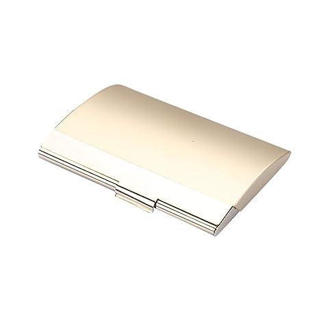 Tianya Titular creativo Caja de cuero de metal con tapa ID ...