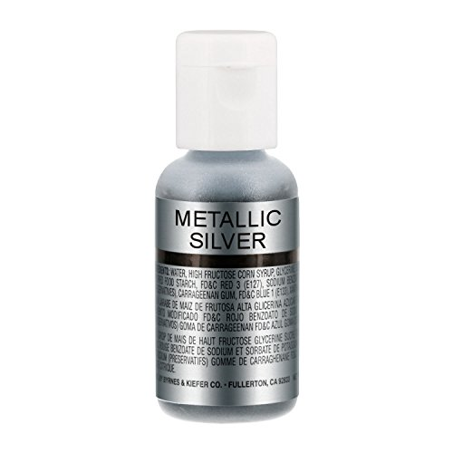 Chefmaster by US Cake Supply .7fl oz Metallic Silver Airbrush Food - Silver Food Dark