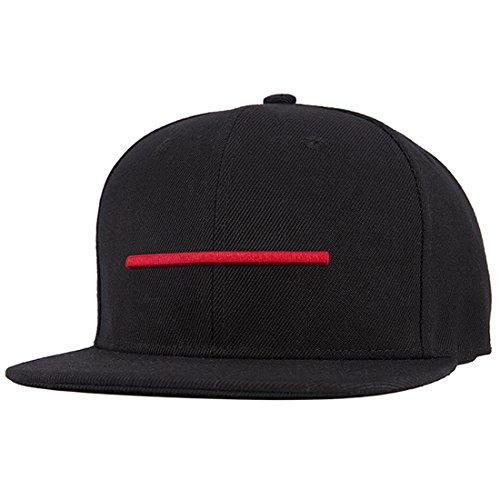 - ChezAbbey Solid Flat Brim Hip Hop Adjustable Hat Stylish Snapback Baseball Cap