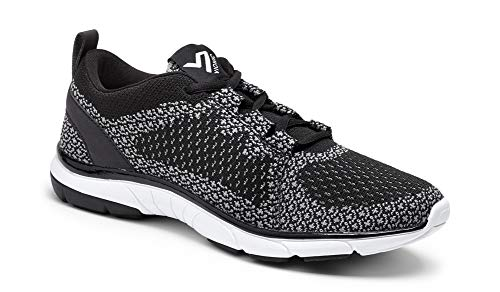 Vionic Women's Flex Sierra Lace-up Walking Shoes - Sneakers with Concealed Orthotic Arch Support Black Charcoal 6 Medium US