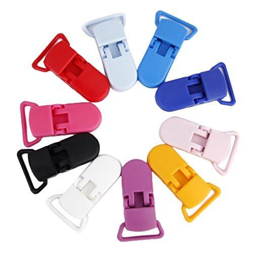 Lot de 10pcs Clip Pince pour Attache-sucette Bretelle Accessoire DIY Couleur M/élang/ée