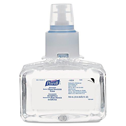 PURELL 130503CT Advanced Instant Hand Sanitizer Foam, LTX-7, 700 ml Refill (Case of 3)