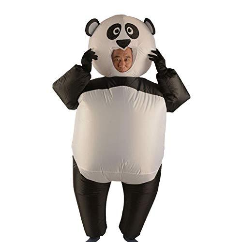 Fenteer Inflatable Panda Costume Airblown Jumpsuit Halloween Cosplay Stage Performer Fancy Dress
