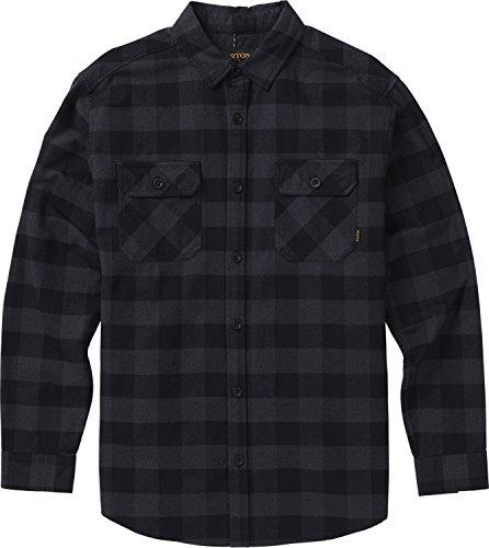 Burton Men's Brighton Flannel Down Shirt, True Black Heather Buffalo W19, Medium