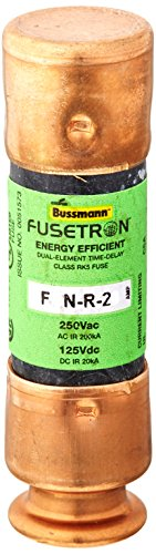 (Bussmann BP/FRN-R-20 20 Amp Fusetron Dual Element Time-Delay Current Limiting Class RK5 Fuse, 250V UL Listed (Pack of 2))