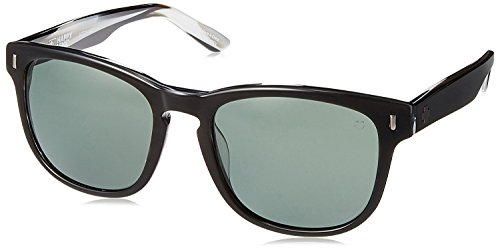 Spy Optic Beachwood Happy Lens Collection Sunglasses, Black/Horn/Grey Green, One Size Fits - Sunglasses Logo R