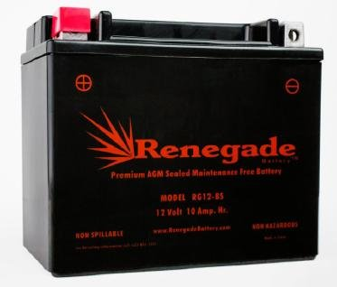 Motorcycle Battery; RG12-BS; Suzuki (01-04) VL800 Intruder Volusia / (97-04) VZ800 Marauder / (04-17) DL650(A) V-Strom ABS Part# ES12BS, ()