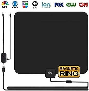 Antena de TV HD para interiores, YRH actualizada, 2018, antena HDTV digital 4K/1080P con anillo