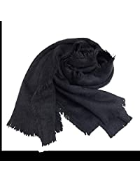 Scarf, Winter New Net Color Warm Soft and Comfortable Scarf Shawl Dual-use Fashion (Color : Black)