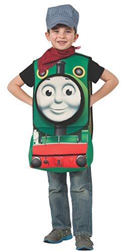 Thomas 3d Costume (Rubies Thomas and Friends Deluxe 3D Percy The Small Engine Costume, Child Small)