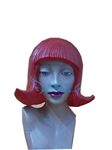 Red CD Latex Wig For Cosplay,Mask Festival,Halloween,Dance Party Costume by MaskShow (Wig Halloween Costume Mask)