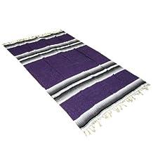 "54"" x 80"" Mexican Yoga Blanket - Yoga Studio Quality"