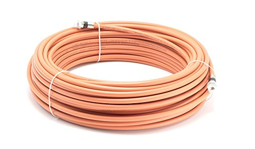 THE CIMPLE CO - 150 Feet Direct Burial Coaxial Cable- Proudly Made in The USA RG6 Coax Cable Rubber Boot - Outdoor Connectors - (Orange) - Designed for Waterproof and to Be Burried (Coaxial Rubber Boot)