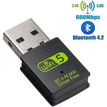 Amazon.com: Adaptador USB WiFi Bluetooth, 600 Mbps de doble ...