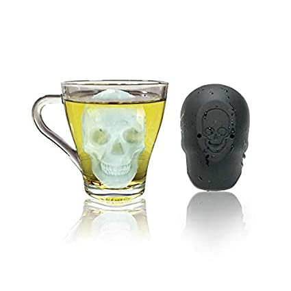 picked up best price coupon code OKIl Big 3D Skull Shape Single Ice Mold Flexible Silicone ...