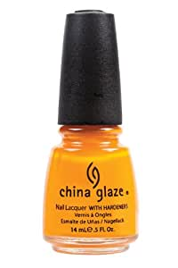 China Glaze Nail Polish, Papaya Punch, 0.5 Fluid Ounce