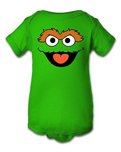 Tee Tee Monster Baby Boys'Oscar the Grouch Inspired Onesie 6 Month Green]()