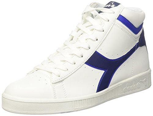Diadora Game P High, Sneaker a Collo Alto Uomo, Bianco (BCO Blu Estate Azzurro Scuro), 45 EU