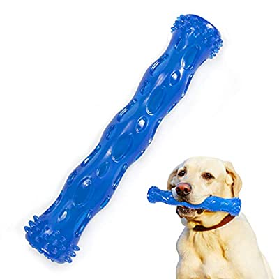 IREENUO Dog Chew Toys for Aggressive Chewers, Indestructible Reinforced Tough Rubber Heavy Chewing Toy Perfect for Large Medium Small Dogs