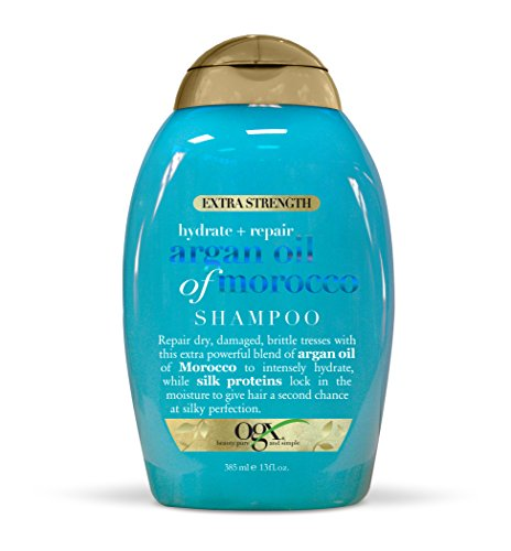 13 Ounce Shampoo (OGX Hydrate Plus Repair Argan Oil of Morocco Extra Strength Shampoo (1) 13 Fluid Ounce Bottle, Paraben Free, Sulfate Free, Sustainable Ingredients, for Damaged Hair)