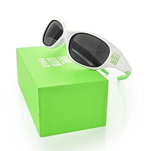 Chic Baby Sunglasses - BEST USA Certified Polarized Lens, Small, Bendable Arms, 1 to 3 years old