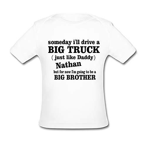 Bernie Gresham Someday I'll Drive a Big Truck Baby Organic Short Sleeve T-Shirt White (Bernie Drives A Truck)