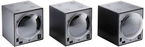 Diplomat 31-403/3 Boxy Triple Package Programmed Carbon Fiber Triple Brick Stacked Watch Winder