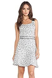 Marc by Marc Jacobs Womens Jacquard Sleeveless Casual Dress White 8