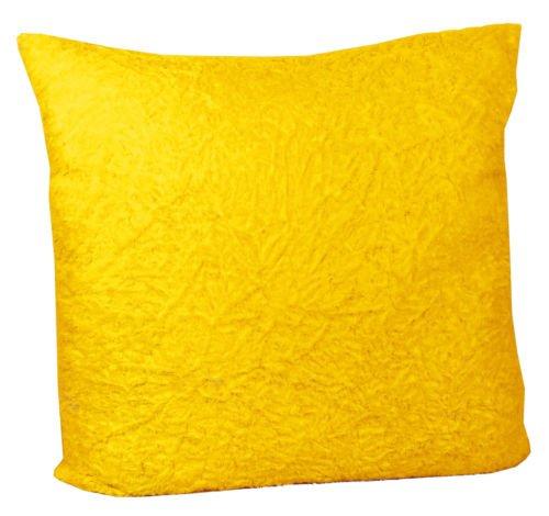 60145-400 Kissen Kuschelkissen Plüschkissen Dekokissen Zottel 40 x 40 cm gelb