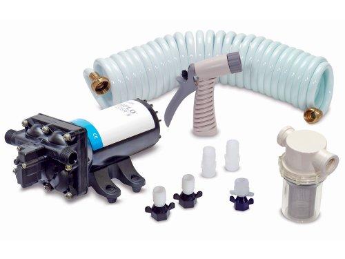 SHURFLO Electric Deck Prowashdown Pump Kit Deluxe for Boat & Rv - 4.0 Gpm Pump - Shurflo Pro Blaster