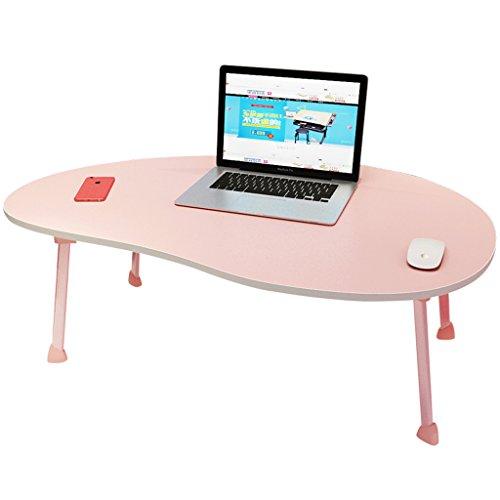 GFL Home Dining Table, Laptop Desk/small Desk Size: L80cmW50cmH28cm (multicolor Optional) Computer Tables (Color : Pink) by GFL