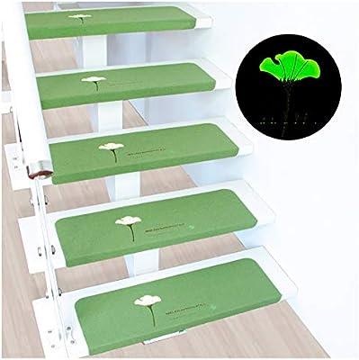 Alfombras de escalera Autoadhesivo Huellas De Escalón Mats Cojín Antideslizante Paso Protección Alfombra Alfombra De Escalera Cubierta De Moda Verde Luminoso Estera casa pura Alfombras para escaleras: Amazon.es: Hogar