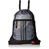 adidas Alliance II Sack Pack, One Size, Onix Looper/Black/Blaze Orange
