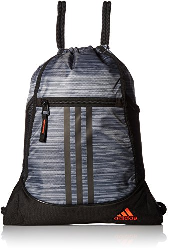 adidas Alliance II Sack Pack, One Size, Onix Looper/Black/Blaze -