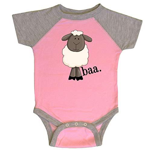 inktastic - Sheep-Baa. Infant Creeper 18 Months Pink and Heather - Baa Sheep