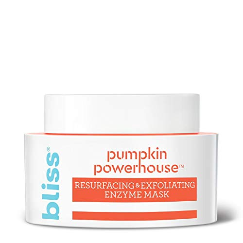 Bliss Pumpkin Powerhouse Resurfacing and Exfoliating Enzyme Face Mask with Shea Butter and Prebiotics, Made Without Parabens and Sulfates, 1.7 ounces (The Best Pumpkin Faces)