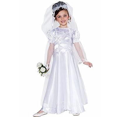 Little Bride Wedding Belle Child Costume Dress and Veil, Medium